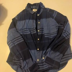 Striped button down women's shirt
